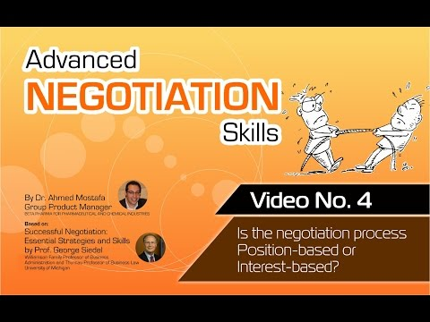 Advanced Negotiation Skills - Video No 4 - Position-based or Interest-based??