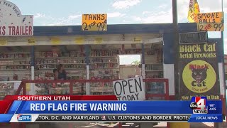 Illegal firework use concerns Southern Utah firefighters amid season's second red flag warning