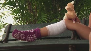 Girl recovers from shark bite in Central Florida