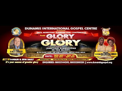 FROM THE GLORY DOME: 2019 TESTIMONY AND THANKSGIVING SERVICE: 25.08.2019