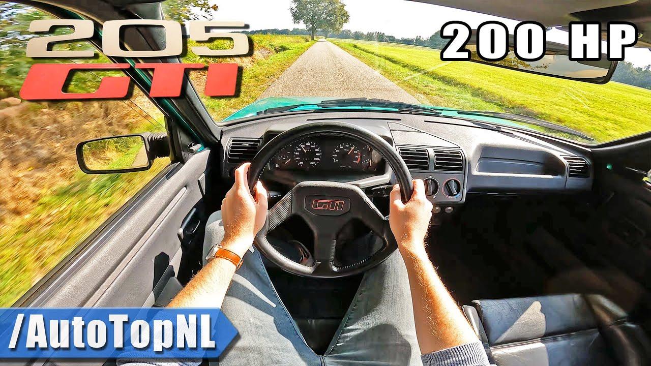 PEUGEOT 205 GTi *2.0 ENGINE SWAP* POV Test Drive by AutoTopNL