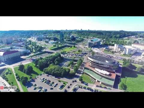 Vilnius Capital of Lithuania aerial video - UCDWUrOtLR7tIEwMPB3wd9XA