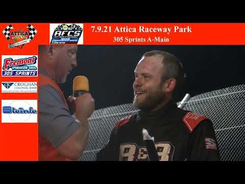 7.9.21 Attica Raceway Park 305 Sprints A-Main - dirt track racing video image