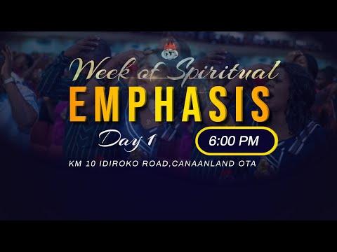 WEEK OF SPIRITUAL EMPHASIS  DAY 1  1, SEPTEMBER  2021 FAITH TABERNACLE