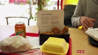 Chicken takeaway boxes stories to tackle knife crime (UK) - BBC News - 15th August 2019
