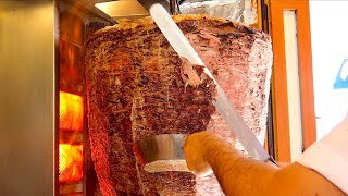 World's Biggest Döner Kebab MASTER CUTTING SKILLS Istanbul - Turkish Street Food
