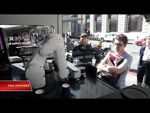 Robot pha chế cà phê (VOA)