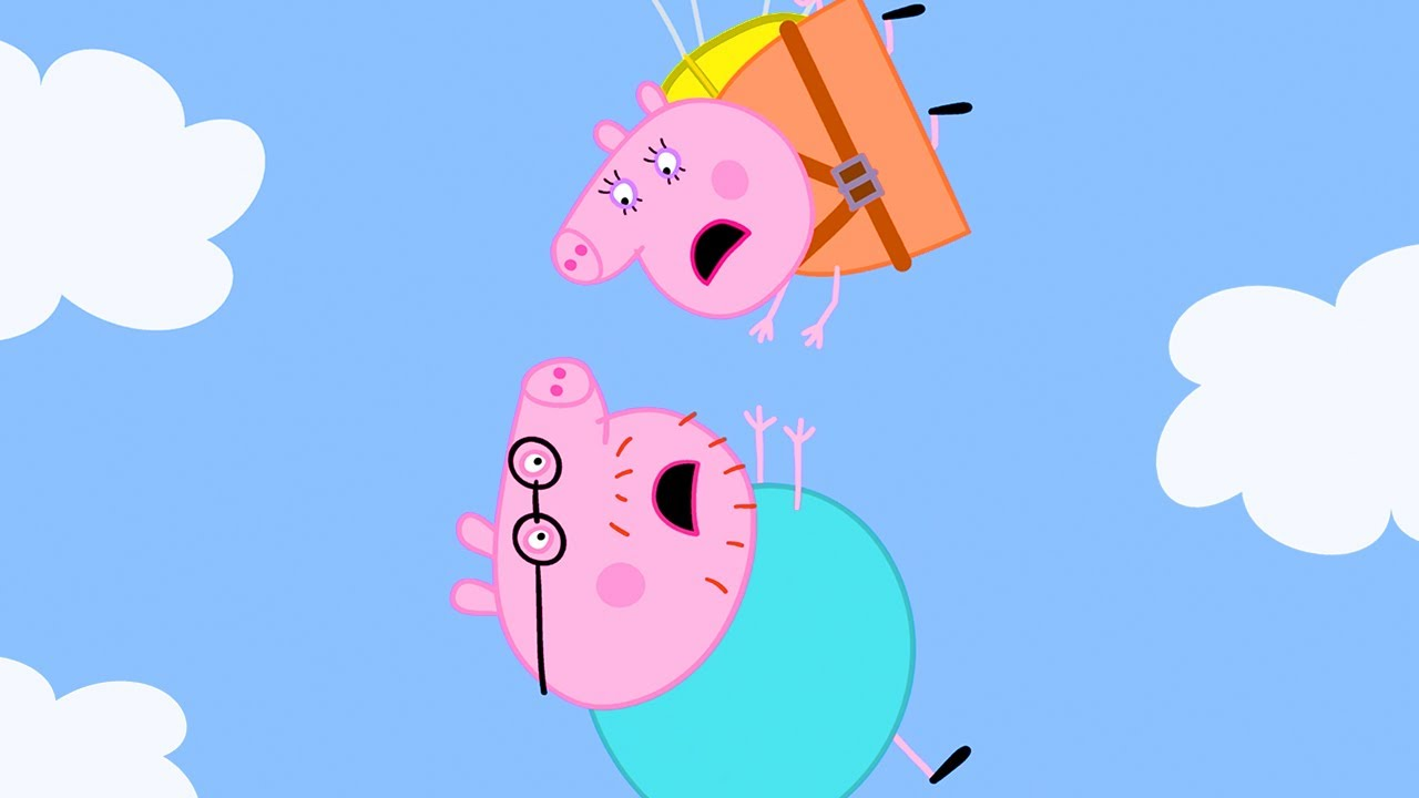 Peppa Pig Official Channel   Mummy Pig is the Bravest Mummy – the Parachute Challenge