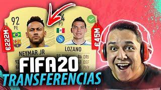 Lozano É DO NAPOLI!! Novela NEYMAR e MAIS!! TRANSFERÊNCIAS CONFIRMADAS FIFA 20 💰🇲🇽