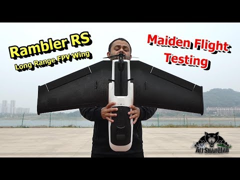 Flight Testing New Rambler RS Long Range FPV Flying Wing - UCsFctXdFnbeoKpLefdEloEQ