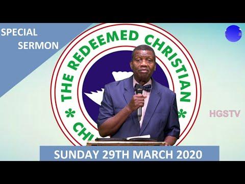 PASTOR E.A ADEBOYE SERMON - RCCG 29/03/2020 SPECIAL SERVICE  PEACE BE STILL