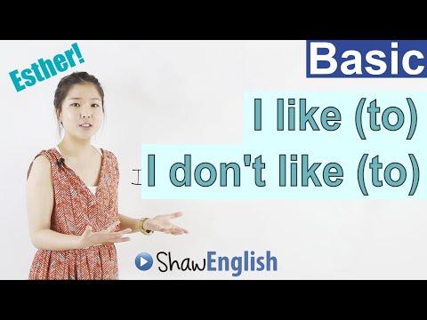 Learn English: I like to  I don
