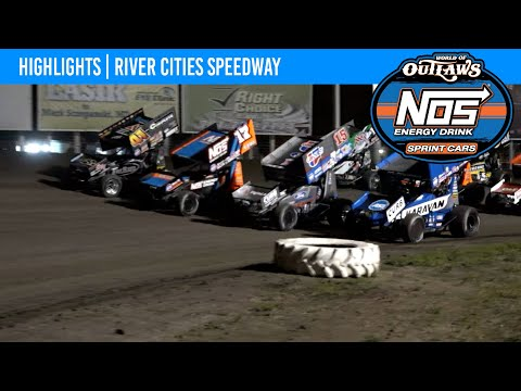 World of Outlaws NOS Energy Drink Sprint Cars River Cities Speedway, August 25, 2021 | HIGHLIGHTS - dirt track racing video image