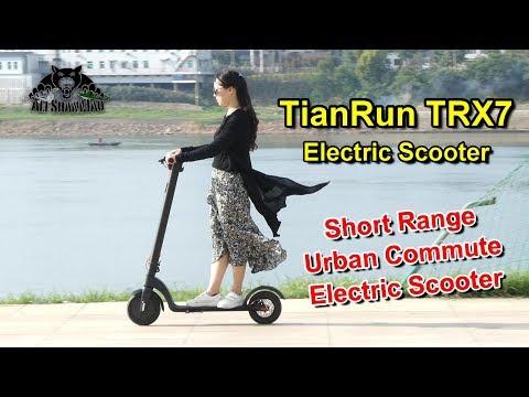 Tianrun X7 detachable battery Folding Smart Electric Scooter Urban Commute - UCsFctXdFnbeoKpLefdEloEQ