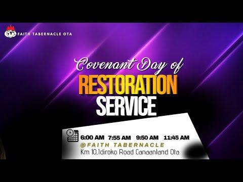 DOMI STREAM: COVENANT DAY OF RESTORATION SERVICE  13 JUNE 2021 FAITH TABERNACLE OTA