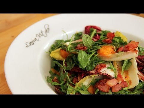 Thanksgiving Salad with Bacon Dressing Recipe - Laura Vitale - Laura in the Kitchen Episode 236 - UCNbngWUqL2eqRw12yAwcICg