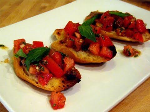 """Bruschetta with Tomato & Basil Recipe - Laura Vitale """"Laura In The Kitchen"""" Episode 1"""