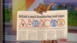 Do you know your 'highway code' (Fun stuff) (UK) - BBC News - 16th August 2019