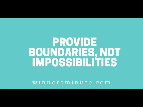 Provide Boundaries, Not Impossibilities // The Winner's Minute With Mac Hammond