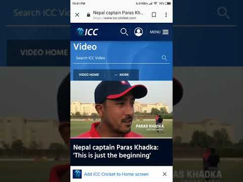 Nepali cricket news January 28 PARASH  Khadka (Captain) interview Best Record galor as Nepal win UAE
