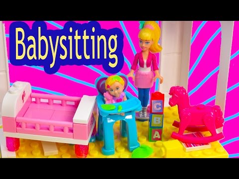Barbie Mini Doll Playset Mega Bloks Babysitting Baby Playset Lego Blind Bag Toy Review Unboxing - UCelMeixAOTs2OQAAi9wU8-g