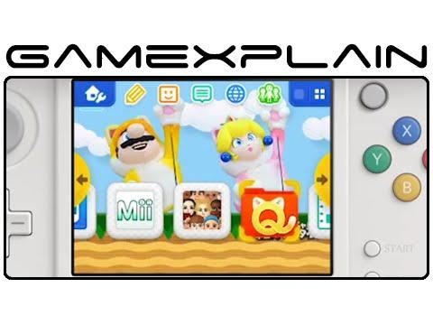 Nintendo 3DS Theme: Super Mario 3D World Cat Mario & Peach