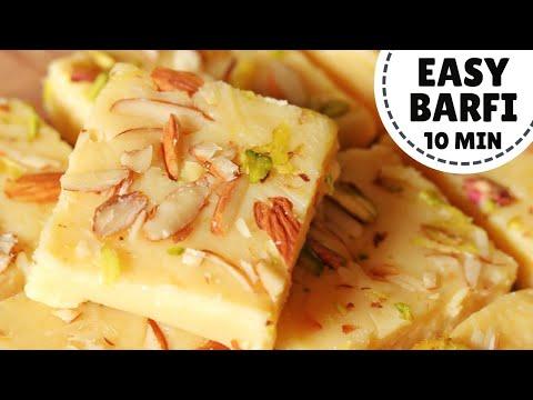 Milk Powder Burfi Recipe: 10 Minute Instant Barfi | मिल्क पाउडर की बर्फी (Hindi)