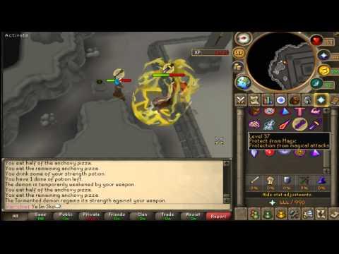 Ye Im Sko soloing 2 Tormented demons in 1 trip using F2P items.