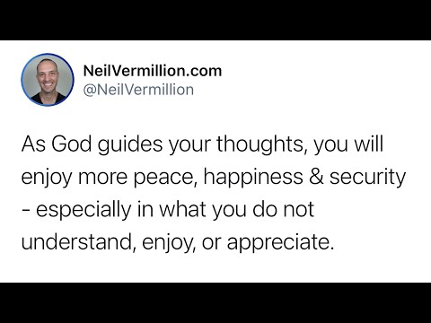 Allow Me To Guide Your Thoughts - Daily Prophetic Word