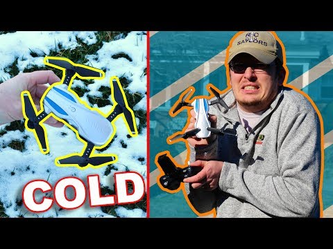 Folding Arm Camera Drone Flying In The COLD - Helifar H1 - TheRcSaylors - UCYWhRC3xtD_acDIZdr53huA