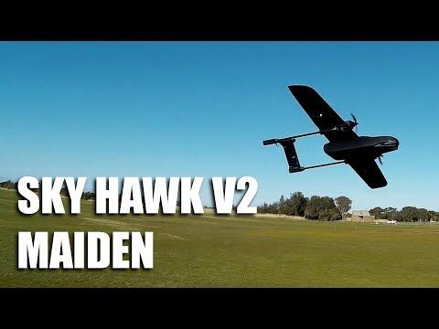 SkyHawk V2 Twin Rotor FPV Plane Maiden Flight with Xenon
