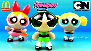 CARTOON NETWORK THE POWERPUFF GIRLS McDONALD'S HAPPY MEAL TOYS FULL SET 3 KIDS COLLECTION UNBOX 2008