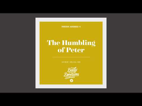 The Humbling of Peter - Daily Devotion