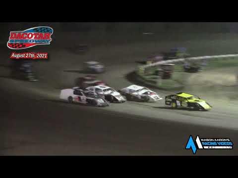 Dacotah Speedway IMCA Modified A-Main (8/27/21) - dirt track racing video image