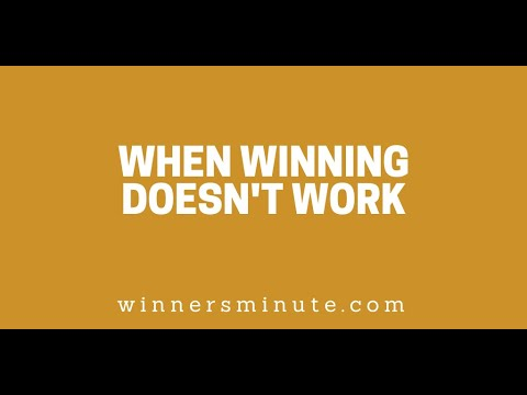 When Winning Doesnt Work // The Winner's Minute With Mac Hammond