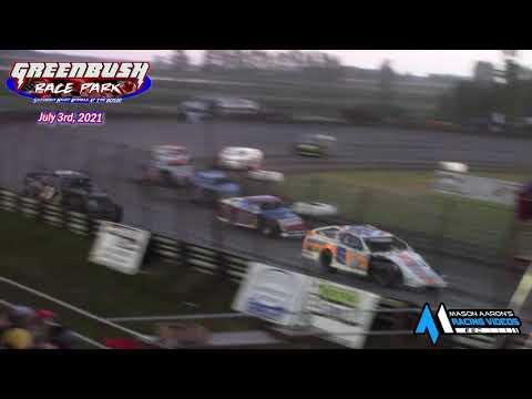 Greenbush Race Park WISSOTA Midwest Modified A-Main (7/3/21) - dirt track racing video image