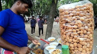 ORIGINAL PANI PURI: He Manages Everything Must Working Hard For Family Selling Tasty Fuchka @ Tk 30