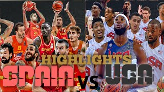 USA VS SPAIN - FULL GAME HIGHLIGHTS AUGUST 16, 2019 | WORLD FRIENDLY INTERNATIONAL