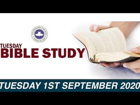 RCCG AUGUST 1st 2020 BIBLE STUDY