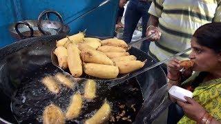 Famous Ramji Mirchi Bajji Corner |  People Tasty Tiffin Starts @ 10 rs | Hyderabad Street Food