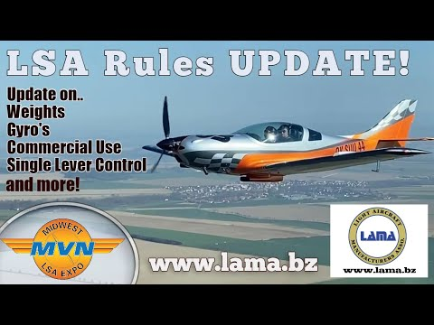Light Sport Aircraft Proposed Rule Changes, Update II, Sept. 2020