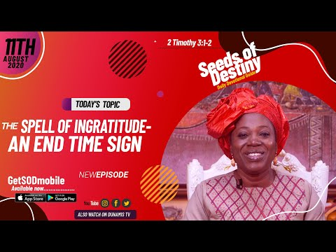 Dr Becky Paul-Enenche - SEEDS OF DESTINY - TUESDAY AUGUST 11, 2020