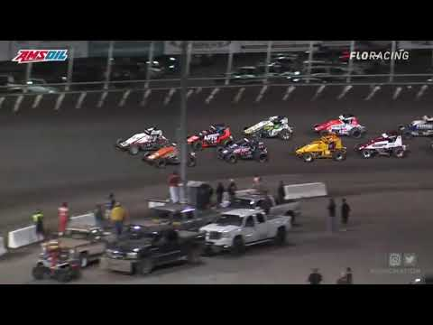 USAC AMSOIL National Sprint Car Highlights   Huset's Speedway USAC Nationals Finale   9/12/2021 - dirt track racing video image