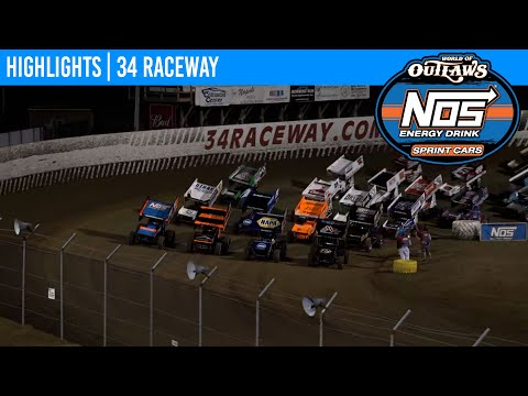 World of Outlaws NOS Energy Drink Sprint Cars at 34 Raceway June 17, 2021 | HIGHLIGHTS - dirt track racing video image