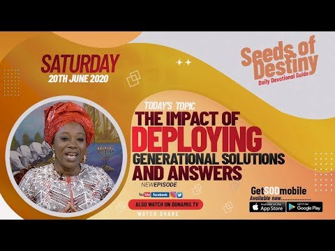 Dr Becky Paul-Enenche - SEEDS OF DESTINY  SATURDAY JUNE 20, 2020