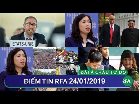 Điểm tin RFA tối 24/01/2019 | Mỹ khuyến nghị VN thả 4 tù nhân lương tâm và thành viên Hội AEDC