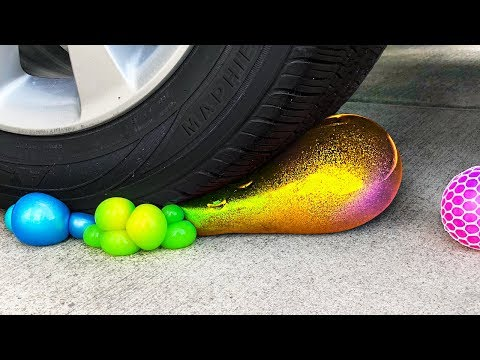 Crushing Crunchy & Soft Things by Car Compilation! - Floral Foam, Squishy, Tide Pods and More! - UC6gqv2Naj9JiowZgHfPstmg