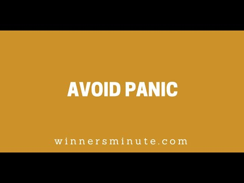 Avoid Panic // The Winner's Minute With Mac Hammond