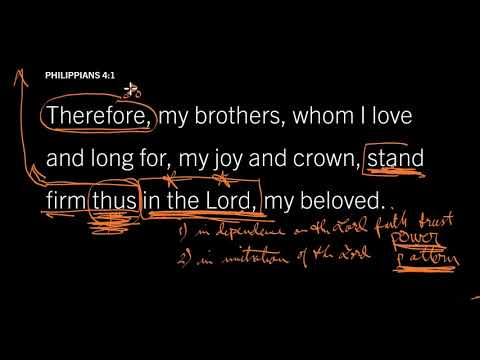 Philippians 4:1 // Part 4 // Stand Firm in the Strength of God