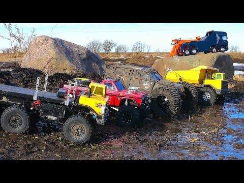 RC ADVENTURES - MUD BATH - 5 Trucks get Dirty - UCxcjVHL-2o3D6Q9esu05a1Q
